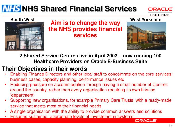NHS Shared Financial Services