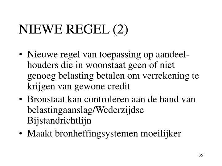 NIEWE REGEL (2)