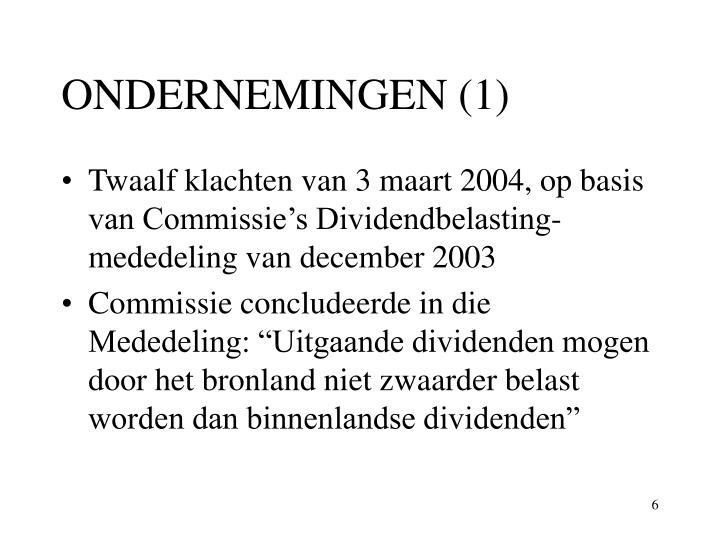 ONDERNEMINGEN (1)