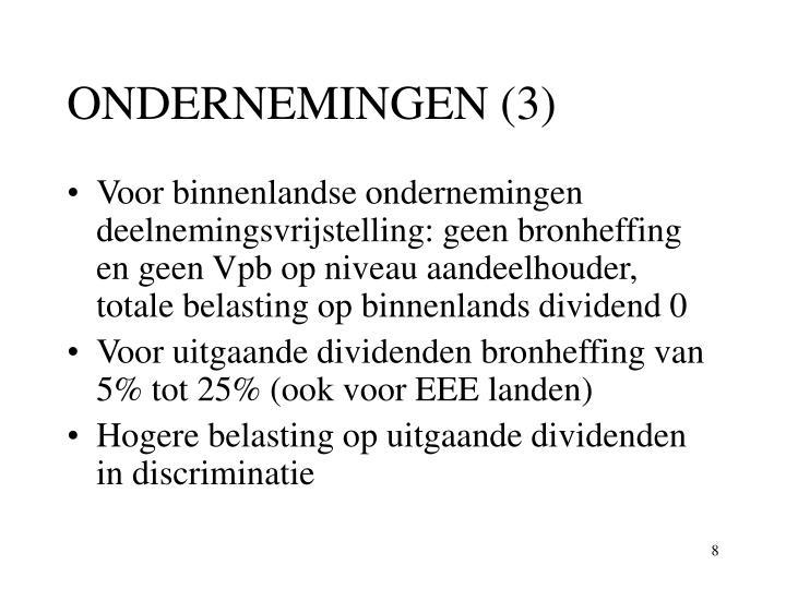 ONDERNEMINGEN (3)