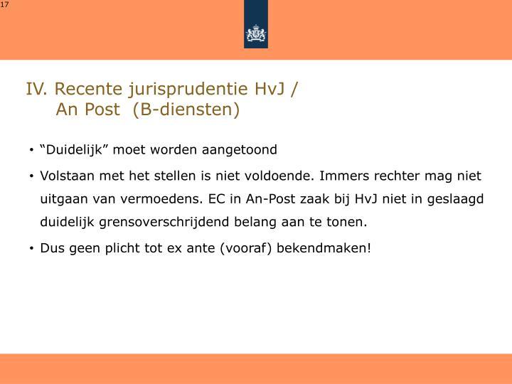 IV. Recente jurisprudentie HvJ /
