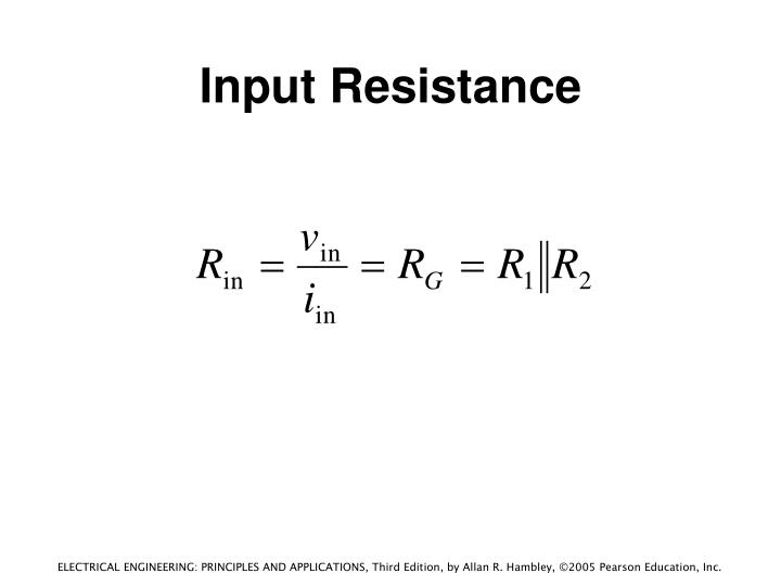 Input Resistance
