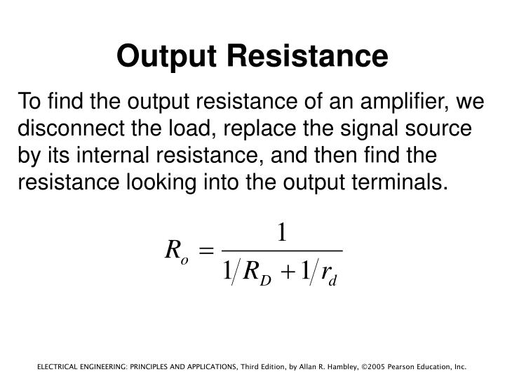 Output Resistance
