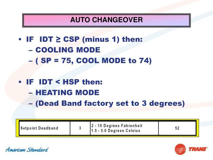 AUTO CHANGEOVER