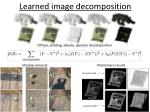 learned image decomposition