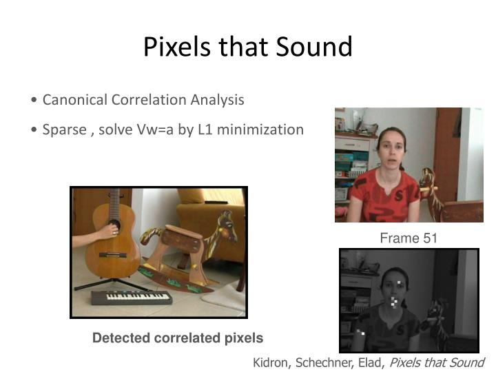 Pixels that Sound