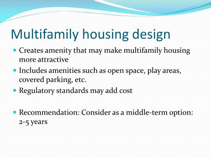 Multifamily housing design