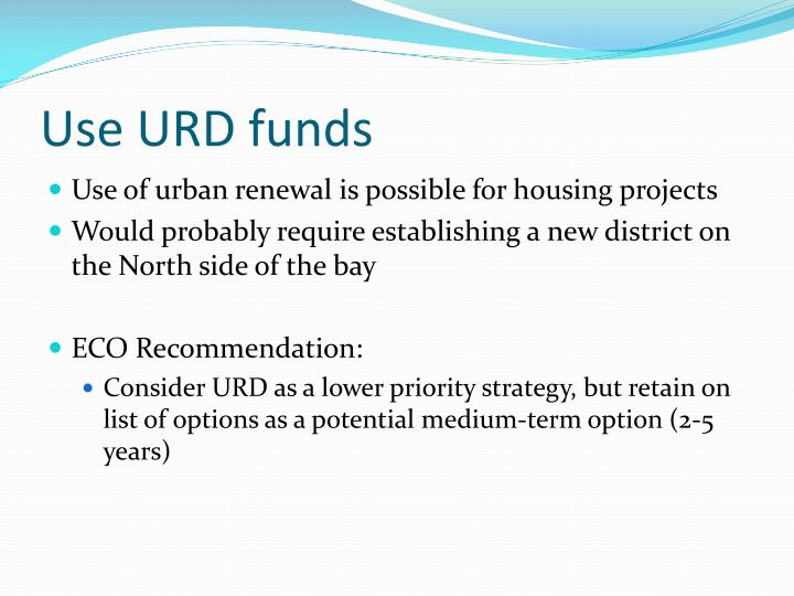 Use URD funds