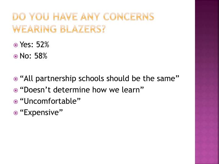 Do you have any concerns wearing blazers?