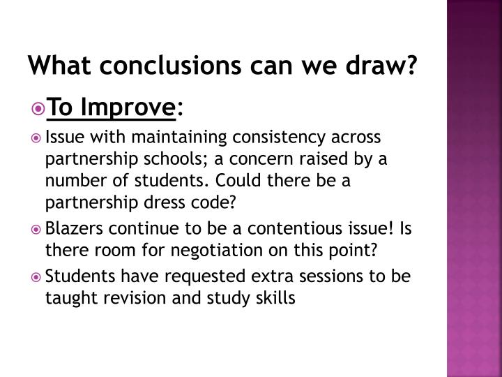 What conclusions can we draw?