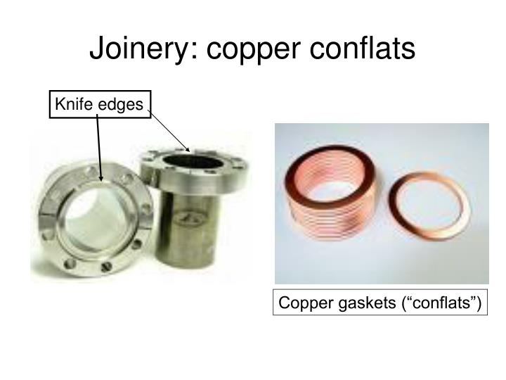 Joinery: copper conflats