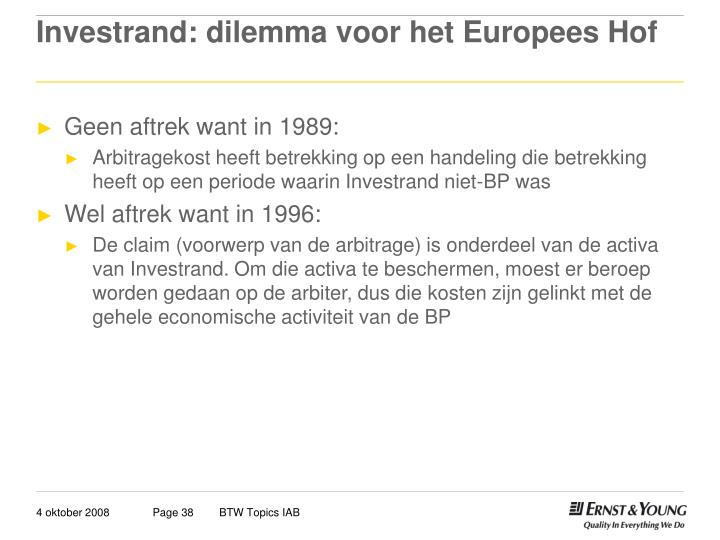 Investrand: dilemma voor het Europees Hof