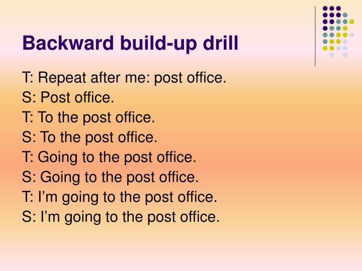 Backward build-up drill