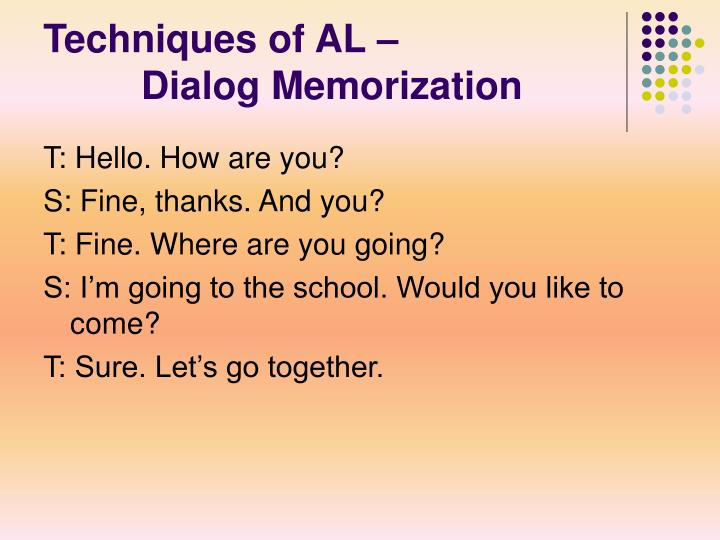 Techniques of AL –