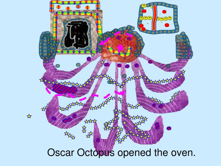 Oscar Octopus opened the oven.
