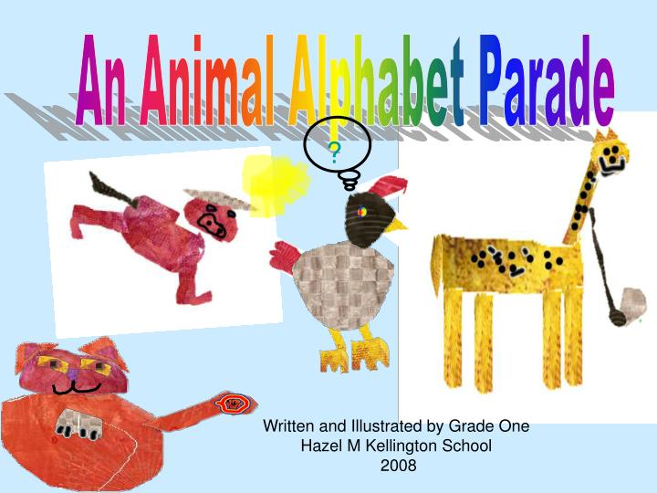 An animal alphabet parade