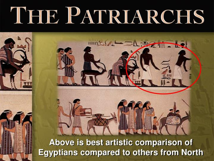Above is best artistic comparison of Egyptians compared to others from North