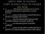 write hmk in agenda copy science page in folder do now1