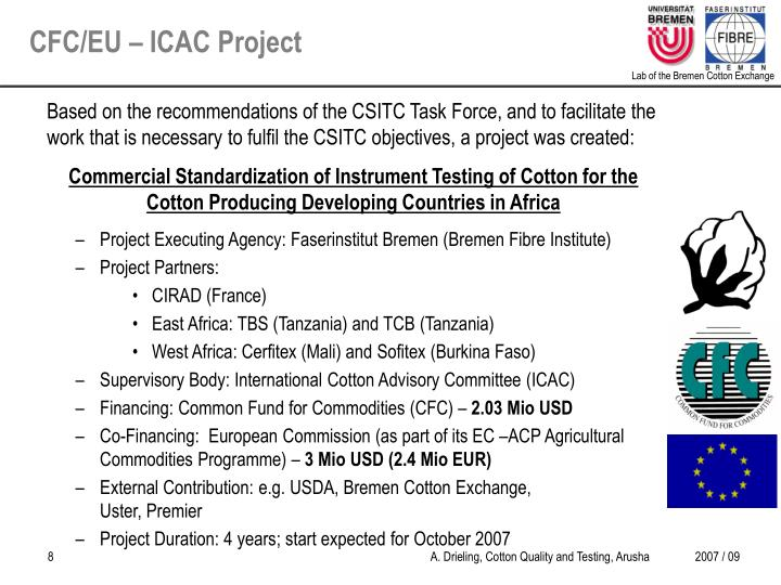CFC/EU – ICAC Project