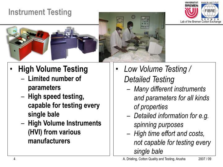 Instrument Testing