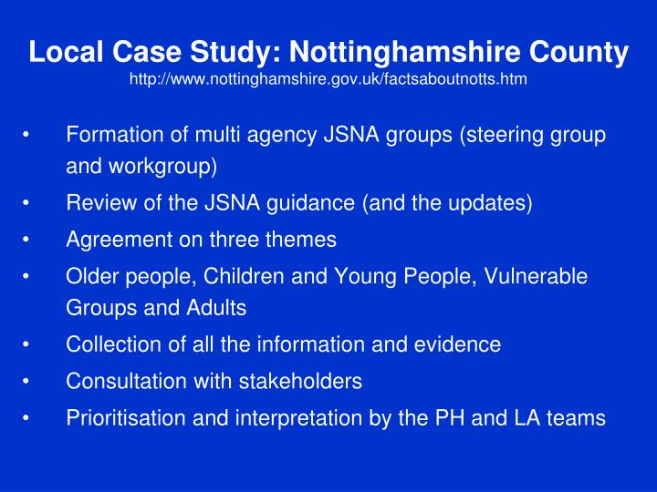 Local Case Study: Nottinghamshire County