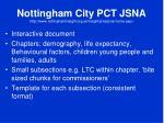 nottingham city pct jsna http www nottinghaminsight org uk insight jsna jsna home aspx