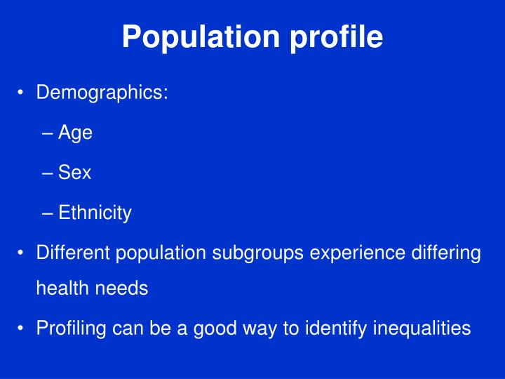 Population profile