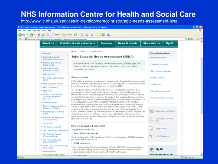 NHS Information Centre for Health and Social Care