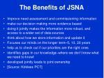the benefits of jsna