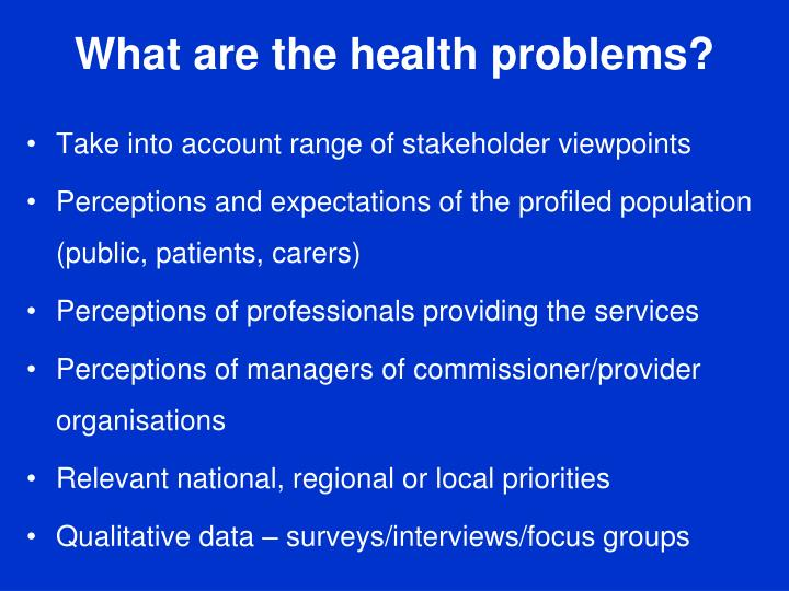 What are the health problems?