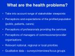what are the health problems1