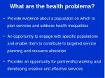 what are the health problems2