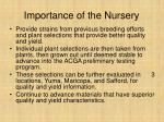 importance of the nursery