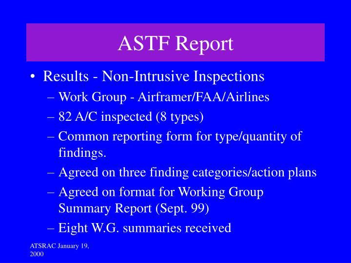 ASTF Report