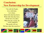 conclusion new partnership for development