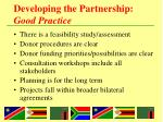 developing the partnership good practice