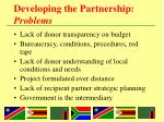 developing the partnership problems