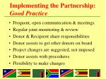 implementing the partnership good practice