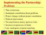implementing the partnership problems1