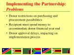implementing the partnership problems2