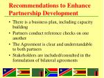 recommendations to enhance partnership development1