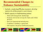 recommended changes to enhance sustainability2