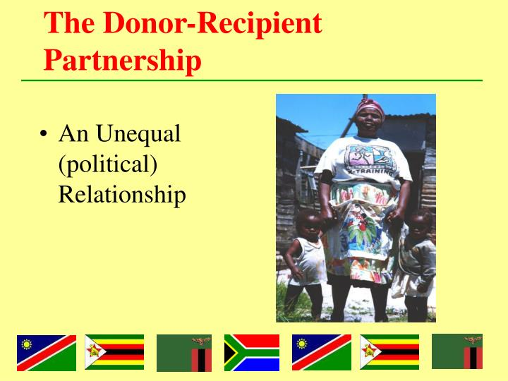 The donor recipient partnership