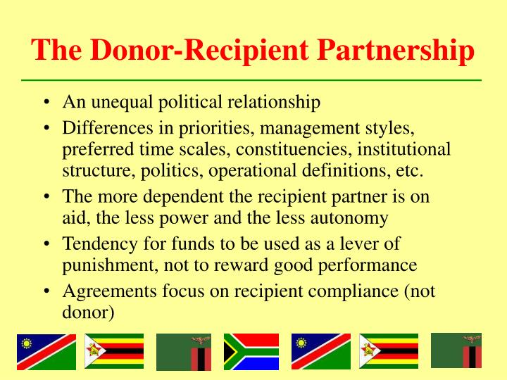 The Donor-Recipient Partnership
