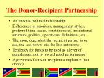 the donor recipient partnership1