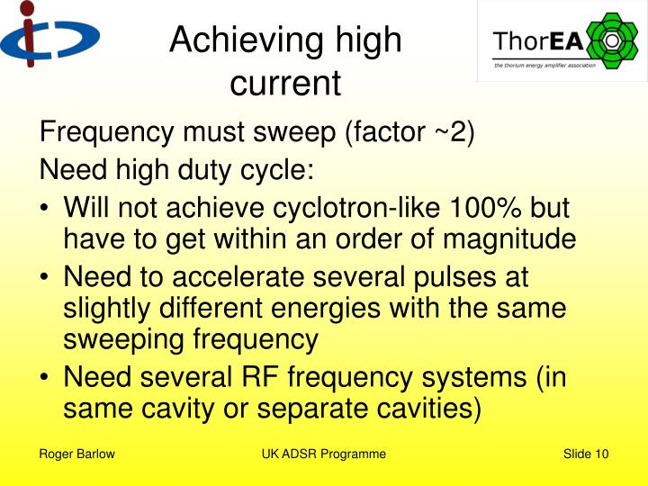 Achieving high current