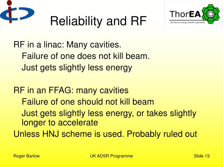 Reliability and RF