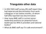triangulate other data