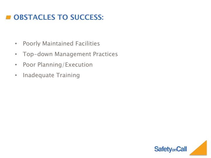 Obstacles To Success: