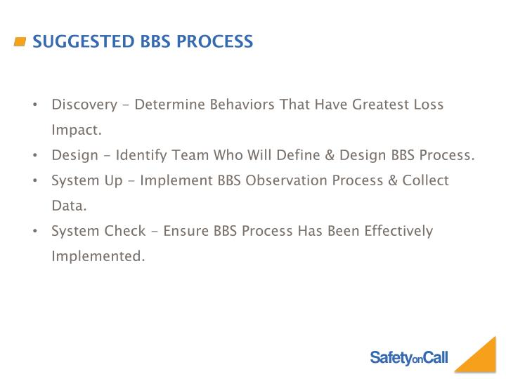 Suggested BBS Process